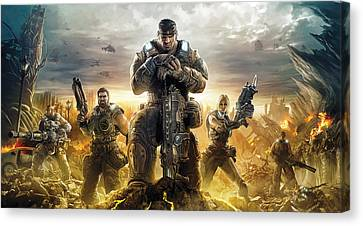 Gears Of War Artwork Canvas Print by Sheraz A