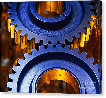 Gears Canvas Print by Terry Why