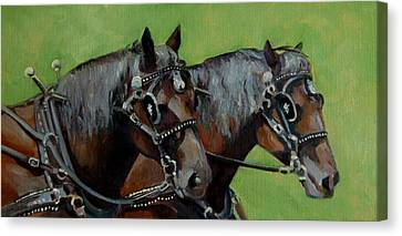 Gee And Haw Canvas Print by Pattie Wall