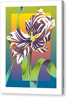 Geen Flamboyance Canvas Print