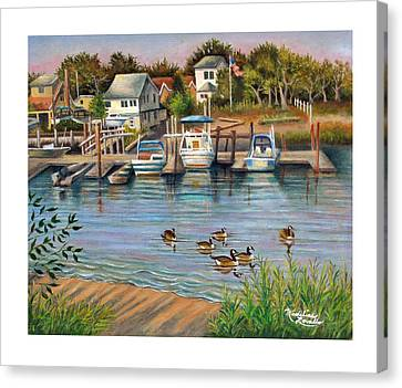 Geese In Hamilton Beach Canvas Print