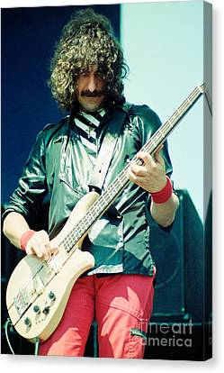 Geezer Butler Of Black Sabbath During 1980 Tour  Canvas Print