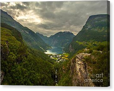 Geiranger Canvas Print by Rose-MariesPictures