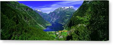 Geirangerfjord, Flydalsjuvet, More Og Canvas Print by Panoramic Images