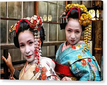 Canvas Print featuring the photograph Geisha 2 by John Swartz