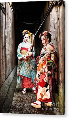Geisha Alley Canvas Print by John Swartz