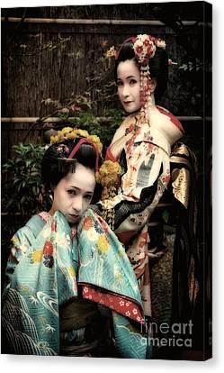 Canvas Print featuring the photograph Geisha Garden by John Swartz