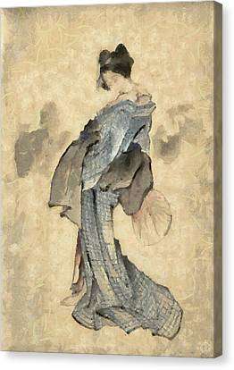 Geisha Canvas Print by Gun Legler