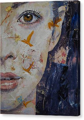 Geisha Girl Canvas Print - Geisha by Michael Creese