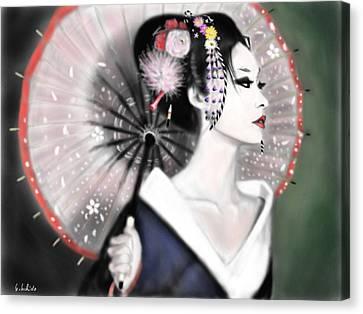 Geisha No.151 Canvas Print by Yoshiyuki Uchida