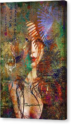 Geisha Print Canvas Print by Greg Sharpe