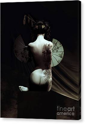 Geisha Canvas Print by Shanina Conway