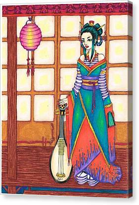 Geisha Canvas Print by Sybil Schubert