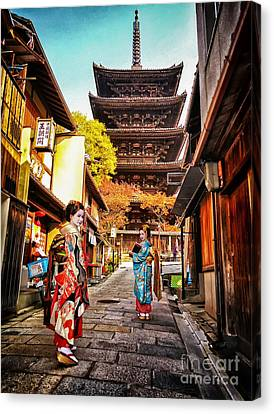 Geisha Temple Canvas Print by John Swartz