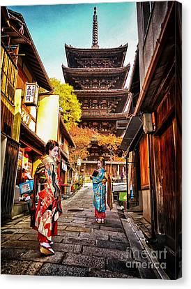 Canvas Print featuring the photograph Geisha Temple by John Swartz