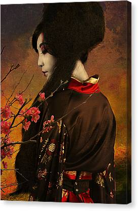Geisha With Quince - Revised Canvas Print