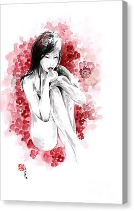 Sakura - Japanese Woman. Canvas Print by Mariusz Szmerdt