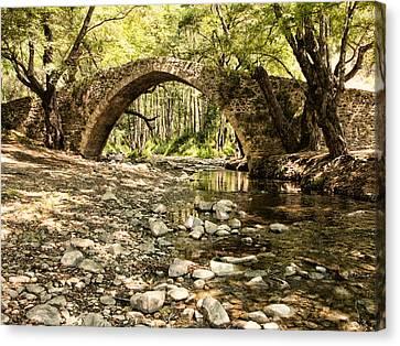 Gelefos Old Venetian Bridge Canvas Print
