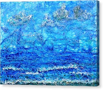 Gelid Seascape Revised Canvas Print by Regina Valluzzi
