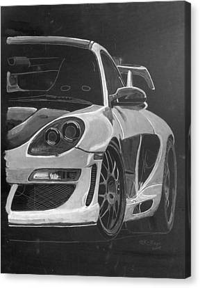 Canvas Print featuring the painting Gemballa Porsche Left by Richard Le Page