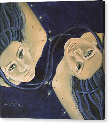 Gemini From Zodiac Series Canvas Print by Dorina  Costras