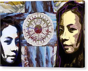 Gemini Canvas Print by Maria Jesus Hernandez