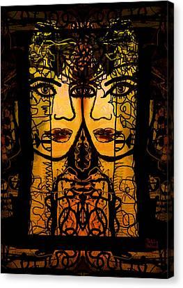 Gemini Twins Canvas Print by Natalie Holland