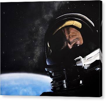 Gemini Xii- Buzz Aldrin Canvas Print by Simon Kregar