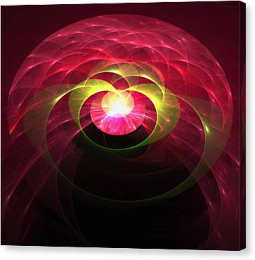 Gemstone Fractal Canvas Print by Gina Lee Manley
