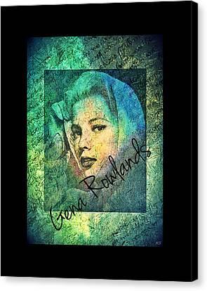 Canvas Print featuring the digital art Gena Rowlands by Absinthe Art By Michelle LeAnn Scott