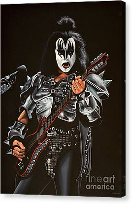 The Kiss Canvas Print - Gene Simmons Of Kiss by Paul Meijering