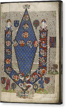 Genealogy Canvas Print - Genealogy Of Henry Vi by British Library