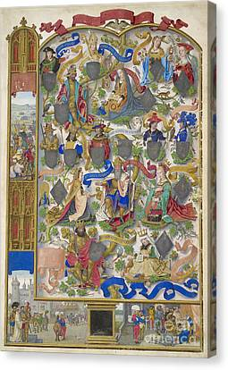 Genealogy Canvas Print - Genealogy Of Kings Of Navarre by British Library