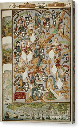 Genealogy Canvas Print - Genealogy Of Kings Of Portugal by British Library