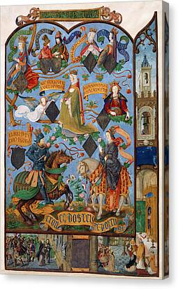 Genealogy Of Queen Isabella Canvas Print by British Library