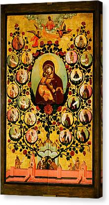 Genealogy Canvas Print - Genealogy Of The State Of Muscovy Panegyric To Our Lady Of Vladimir by MotionAge Designs