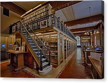 Genealogy Canvas Print - Genealogy Room Ny Public Library by Susan Candelario