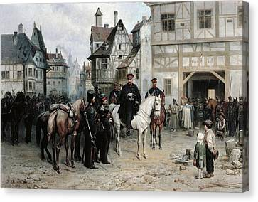 General Blucher 1742-1819 With The Cossacks In Bautzen, 1885 Oil On Canvas Canvas Print by Bogdan Willewalde
