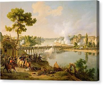 General Bonaparte Giving Orders At The Battle Of Lodi Canvas Print by Louis Lejeune