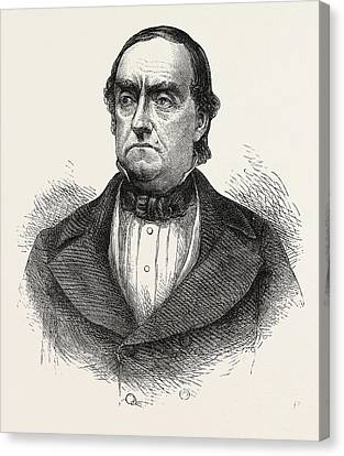 General Cass, Lewis Cass, 1782-1866, American Military Canvas Print by English School