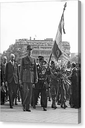 General Charles De Gaulle Canvas Print by Underwood Archives