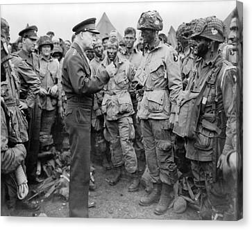General Dwight Eisenhower Talked Canvas Print by Everett