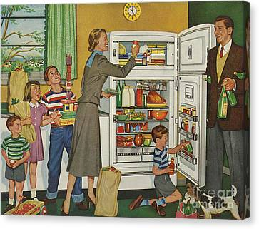 General Electric 1952 1950s Usa Fridges Canvas Print by The Advertising Archives