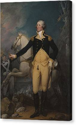 General George Washington At Trenton, 1792 Canvas Print