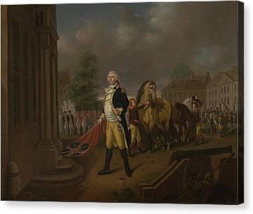 General Humphreys Delivering Canvas Print by Nicolas Louis Albert Delerive