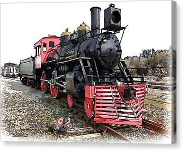 Canvas Print featuring the photograph General II - Steam Locomotive by Ludwig Keck