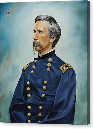 Canvas Print featuring the painting General Joshua Chamberlain by Glenn Beasley