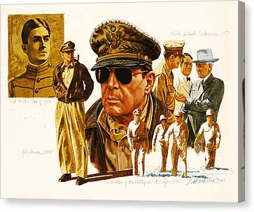 General Macarthur Canvas Print by Dick Bobnick