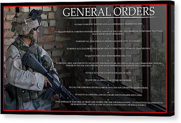 General Orders Canvas Print by Annette Redman