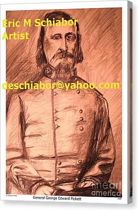 General Pickett Confederate  Canvas Print by Eric  Schiabor